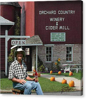 Fall Scenes Canvas Print - Orchard Country Winery by Doug Kreuger