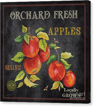 Locally Grown Canvas Print - Orchard Fresh Apples-jp2638 by Jean Plout