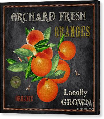 Locally Grown Canvas Print - Orchard Fresh Oranges-jp2641 by Jean Plout