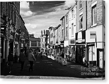 orchard street in the pedestrian shopping area of Preston city centre England UK Canvas Print by Joe Fox