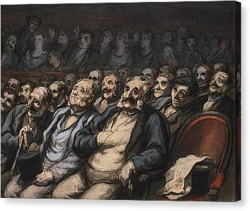 Orchestra Seat Canvas Print by Honore Daumier
