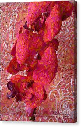 Orchid On Fabric Canvas Print