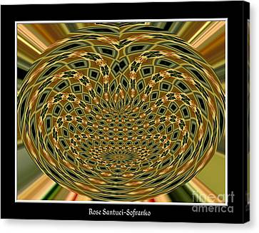 Canvas Print featuring the photograph Orchid Polar Coordinate by Rose Santuci-Sofranko