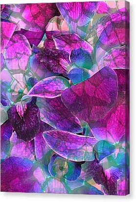 Canvas Print featuring the photograph Orchid Splash by Diane Alexander