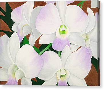 Arcylic Canvas Print - Orchid Splendor Painting by Lisa Bentley
