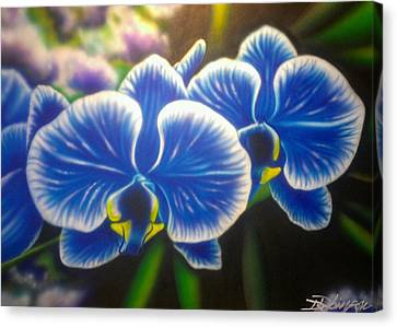 Orchid-strated Blues Canvas Print
