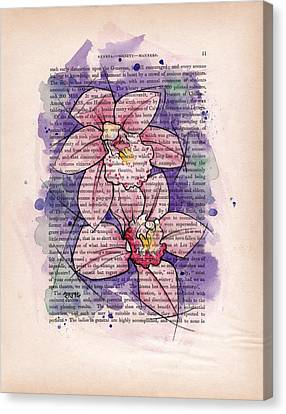 Orchid Study I Canvas Print by Rudy Nagel