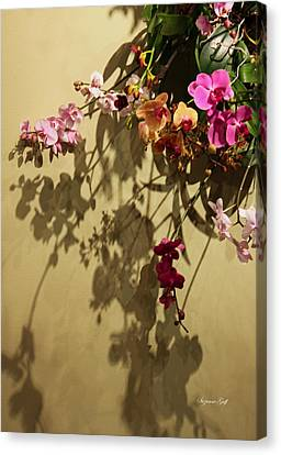 Orchid Wreath Abstract Canvas Print