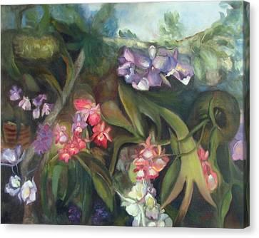 Orchids I Canvas Print by Susan Hanlon