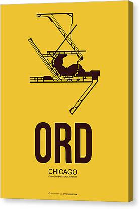 Ord Chicago Airport Poster 1 Canvas Print by Naxart Studio
