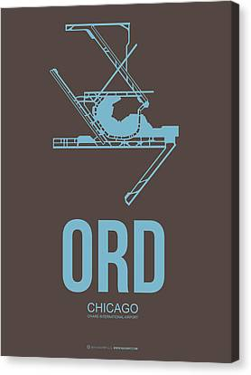 Ord Chicago Airport Poster 2 Canvas Print by Naxart Studio