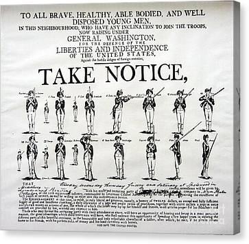 Order Of Battle - Take Notice Brave Men Canvas Print