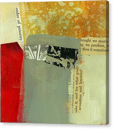 Order Of Priority Canvas Print by Jane Davies