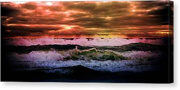 Water Canvas Print featuring the photograph Ocean Storm by Aaron Berg