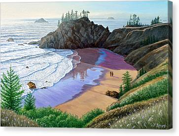 Oregon Coast-little Cove Canvas Print by Paul Krapf