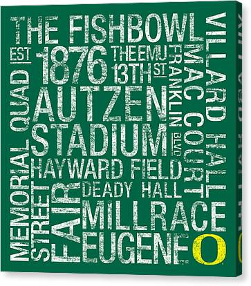 Oregon College Colors Subway Art Canvas Print