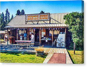 Oregon Country Store Canvas Print by Bob and Nadine Johnston