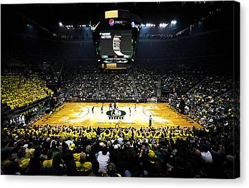 Opening Night Canvas Print - Oregon Ducks Matthew Knight Arena by Replay Photos