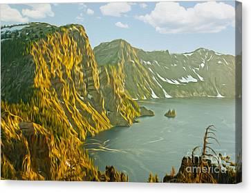 Oregon Lake Time Canvas Print by Nur Roy