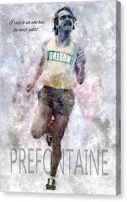 Oregon Running Legend Steve Prefontaine Canvas Print by Daniel Hagerman