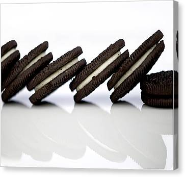 Oreo Cookies Canvas Print by Juli Scalzi