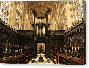 Organ And Choir - King's College Chapel Canvas Print by Stephen Stookey