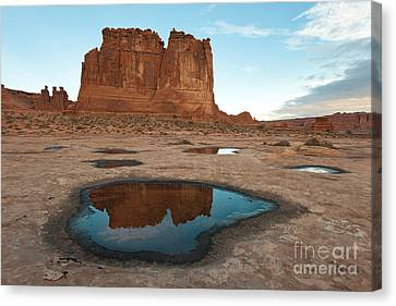 Organ Formation, Arches National Park Canvas Print by John Shaw