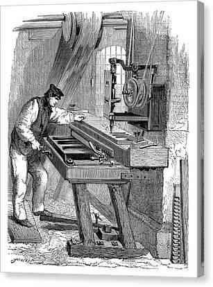 Organ Keyboard Production Canvas Print