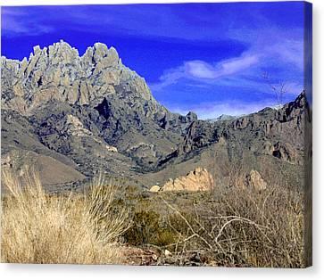 Organ Mountain Frosty Top Canvas Print by Jack Pumphrey