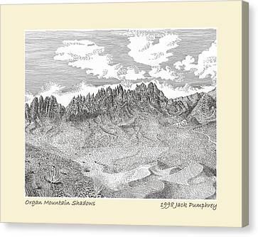 Organ Mountain Shadows Canvas Print