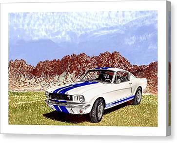Organ Mountains And 1965 Mustang Canvas Print