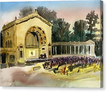 Organ Pavilion Sunset Canvas Print