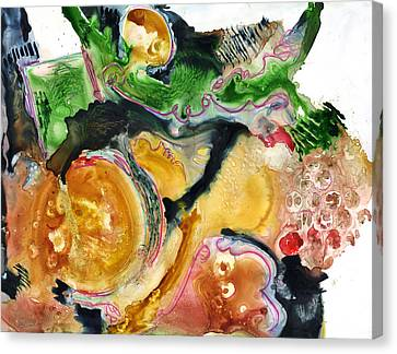 Organic Abstract Art Canvas Print by Blenda Studio