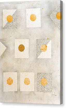 Organic Dot Canvas Print by Sumit Mehndiratta