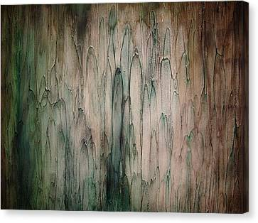 Canvas Print featuring the painting Organic Greens by Tamara Bettencourt