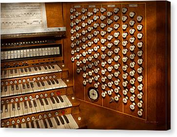 Organist - Ready At The Controls Canvas Print