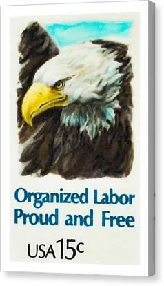 Organized Labor Proud And Free Usa15c Canvas Print