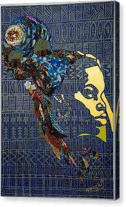 Canvas Print featuring the tapestry - textile Ori Dreams Of Home by Apanaki Temitayo M