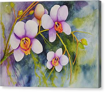 Orchids In My Garden Canvas Print