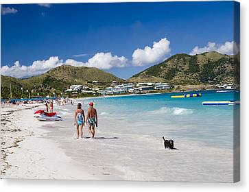 Orient Beach In St Martin Fwi Canvas Print by David Smith