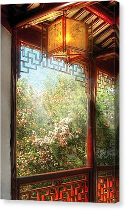 Orient - Lamp - Simply Chinese Canvas Print by Mike Savad