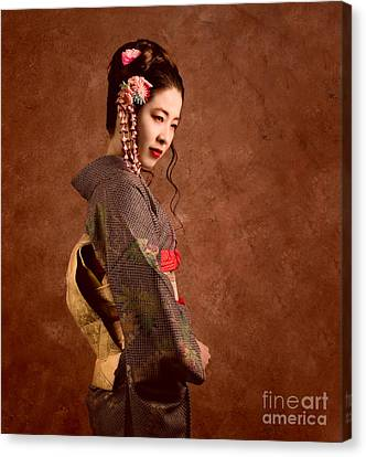 Geisha Girl Canvas Print - Oriental Beauty by Julian Cook