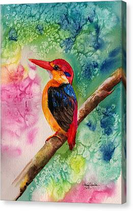 Oriental Dwarf Kingfisher Canvas Print by Isabel Salvador
