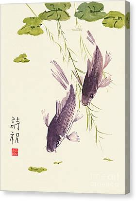 Oriental Koi IIi Canvas Print by Sandy Linden