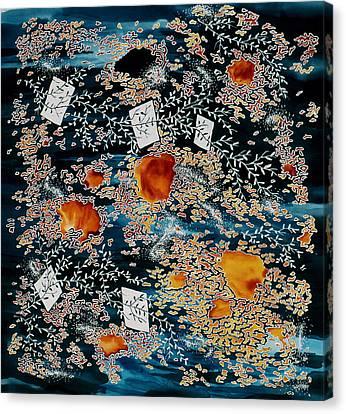 Oriental Moonlight Canvas Print by Carolyn Doe