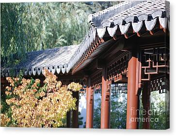 Canvas Print featuring the photograph Oriental Roof by George Mount