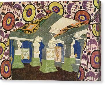 Oriental Scenery Design Canvas Print by Leon Bakst