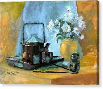 Oriental Teapot Canvas Print