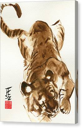 Oriental Tiger Canvas Print by Sandy Linden