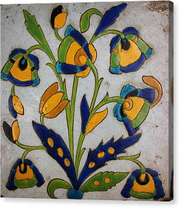 Oriental Tile Canvas Print by Celestial Images